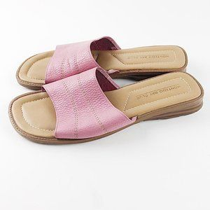 Montego Bay Club Pink Leather Slides Sz 8